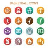 Basketball long shadow icons Stock Photos