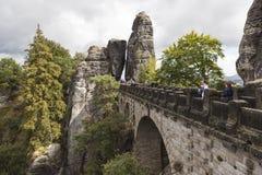 Bastei Felsformationen deutschland Lizenzfreies Stockbild