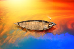 Bateau traditionnel au Bangladesh Photo libre de droits