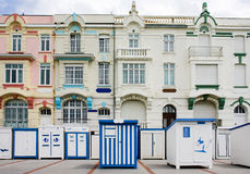 Bathing boxes in France Royalty Free Stock Photos