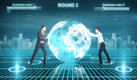 Battle in cyberspace Royalty Free Stock Photos