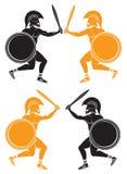 Battle of gladiators Royalty Free Stock Images