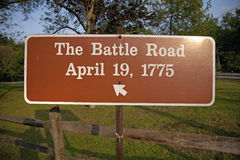 The Battle Road Royalty Free Stock Photography