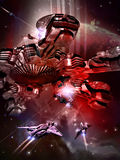 Battle in space Royalty Free Stock Photos