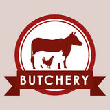 Bbq and butchery theme Stock Images