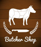 Bbq and butchery theme Royalty Free Stock Photography