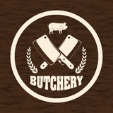 Bbq and butchery theme Royalty Free Stock Image