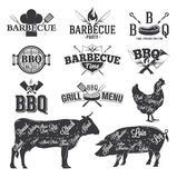 BBQ Emblems and Logos Stock Photo