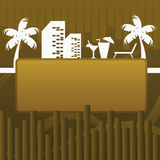 Beach banner background Royalty Free Stock Photos