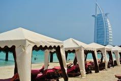 Beach in Dubai Stock Photography