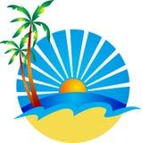 Beach logo Royalty Free Stock Photography