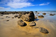 Beach in Maketu, Bay of Plenty Royalty Free Stock Image
