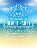 Beach Party Invitation Stock Images