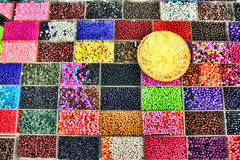 Beads in Boxes Stock Photos