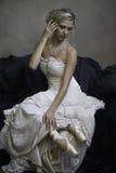 Beautiful blonde bridal ballerina Stock Photo