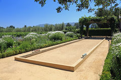 Beautiful Bocce Ball Court Royalty Free Stock Photography