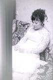 Beautiful Bride sad, waiting Royalty Free Stock Images
