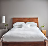 Beautiful Clean and Modern Bedroom Stock Photos