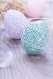 Beautiful easter egg decoration colorfull eggs seasonal pastel Stock Photography
