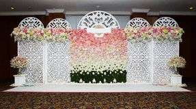 Beautiful flowers background for wedding Stock Photos