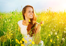Beautiful Girl Outdoor Royalty Free Stock Photo
