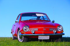 Beautiful old red car Royalty Free Stock Images