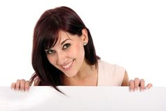 Beautiful Presentation Girl Royalty Free Stock Images