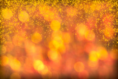 Beautiful Red Golden Background Starlight Twinkles Sparkles Stock Photos