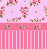 Beautiful seamless floral pattern, flower  illustration. Elegance wallpaper with of pink roses on floral background. Stock Images