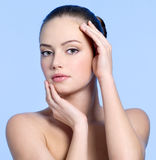 Beautiful sensuality face of young woman Stock Image