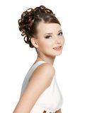 Beautiful  sensuality woman with beauty hairstyle Royalty Free Stock Images