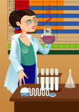 Woman chemist Stock Photography