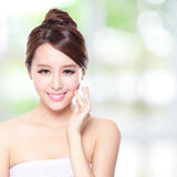 Beautiful woman smile with clean face skin Royalty Free Stock Photo