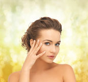 Beautiful woman with updo Royalty Free Stock Photos
