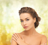 Beautiful woman with updo Royalty Free Stock Image
