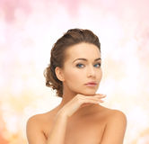 Beautiful woman with updo Royalty Free Stock Photo