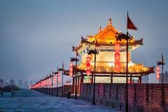 Beautiful xian city  in nightfall Stock Photography