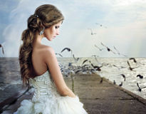 Beautiful young  woman bride Stock Photo