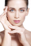 Beauty model showing clean fresh healthy skin Royalty Free Stock Photography