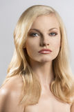 Beauty portrait of pretty blonde girl Stock Photo