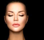 Beauty woman face closeup Stock Photo