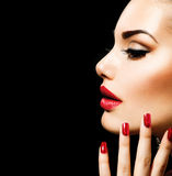 Beauty Woman with Perfect Makeup Stock Photos