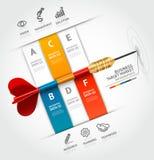 Bedrijfsconcepten infographic malplaatje Zaken Ta Royalty-vrije Stock Foto's