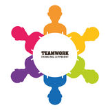 Bedrijfsgroepswerk en leiding Royalty-vrije Stock Afbeelding