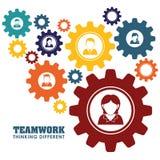 Bedrijfsgroepswerk en leiding Stock Afbeelding
