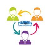 Bedrijfsgroepswerk en leiding Stock Foto