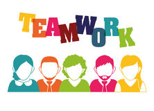 Bedrijfsgroepswerk en leiding Stock Foto's