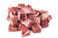 Beef Stew Meat Raw Royalty Free Stock Photos