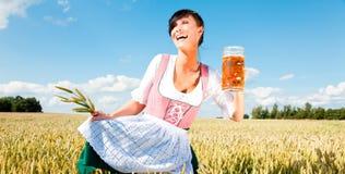 Beer girl Stock Photos