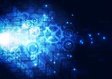 Begrepp för digital teknologi för vektorillustration högteknologiskt, abstrakt bakgrund Royaltyfri Fotografi